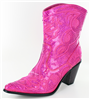 Fuchsia Sequin Bling Boot