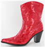 Red Sequin Bling Boot