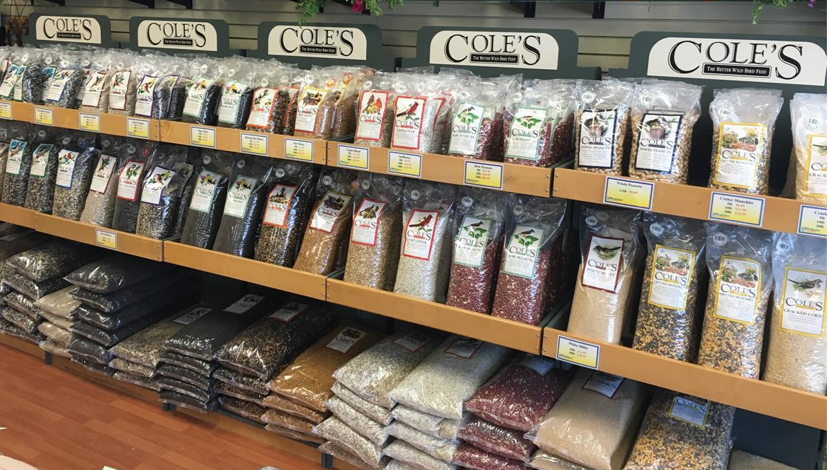 Coles bird seed and bird feed available at Bird Watcher Supply Company