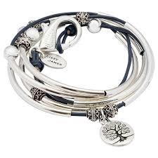 lizzy james wrap bracelet necklace made in the usa leather womans company colored leather charms