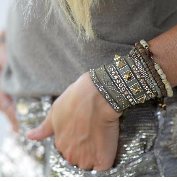Paris Bracelets Les Interchangables Swarovski crystal high fashion warranty stack them up
