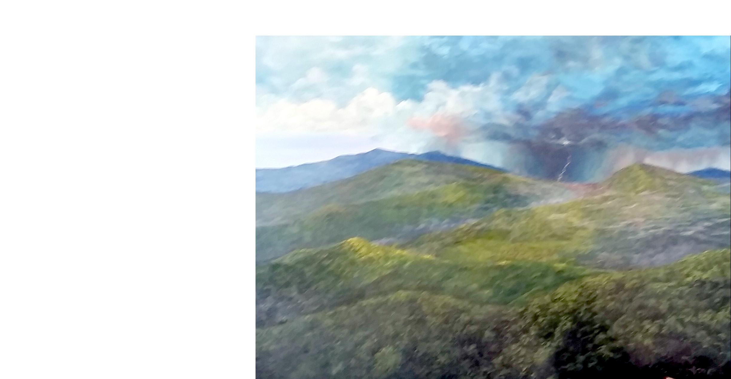 David Short, Altitude paintings, Contemporary Artist, Realist painter, trains, mountains, Milky Way, Ireland, oil paintings, original art, Virginia Artist, local RVA artist
