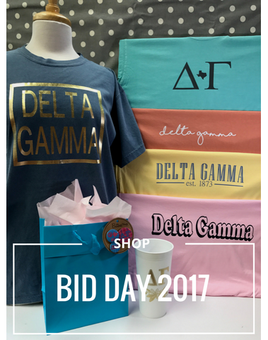 Shop Bid Day 2017 Greek Life Sorority