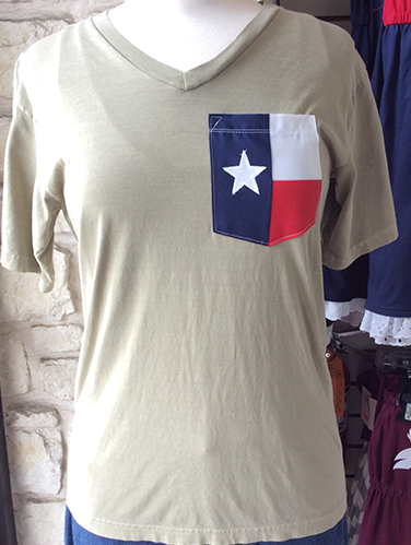 Sorority Texas Flag Pocket Tee, Custom Sorority Greek Life Texas Flag Tshirt