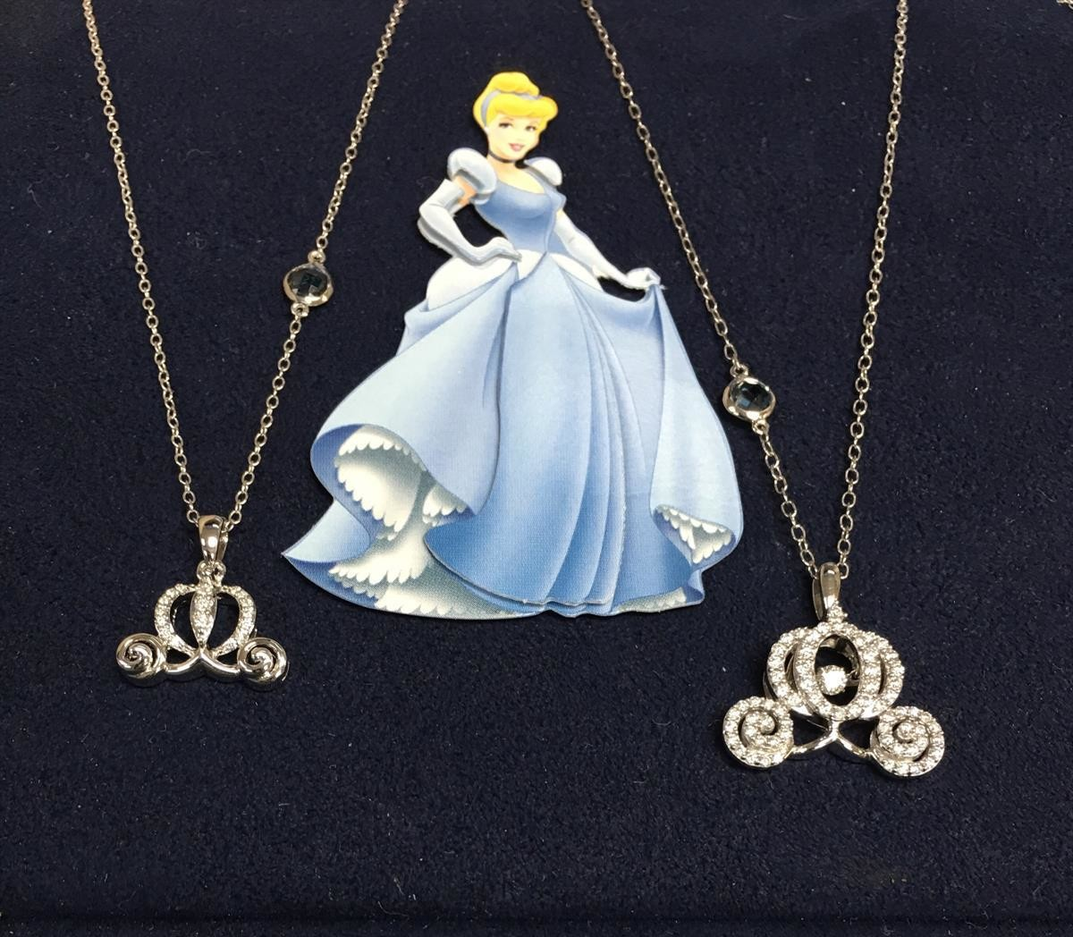 Disney's Cinderella Pumpkin Coach Diamond Pendants