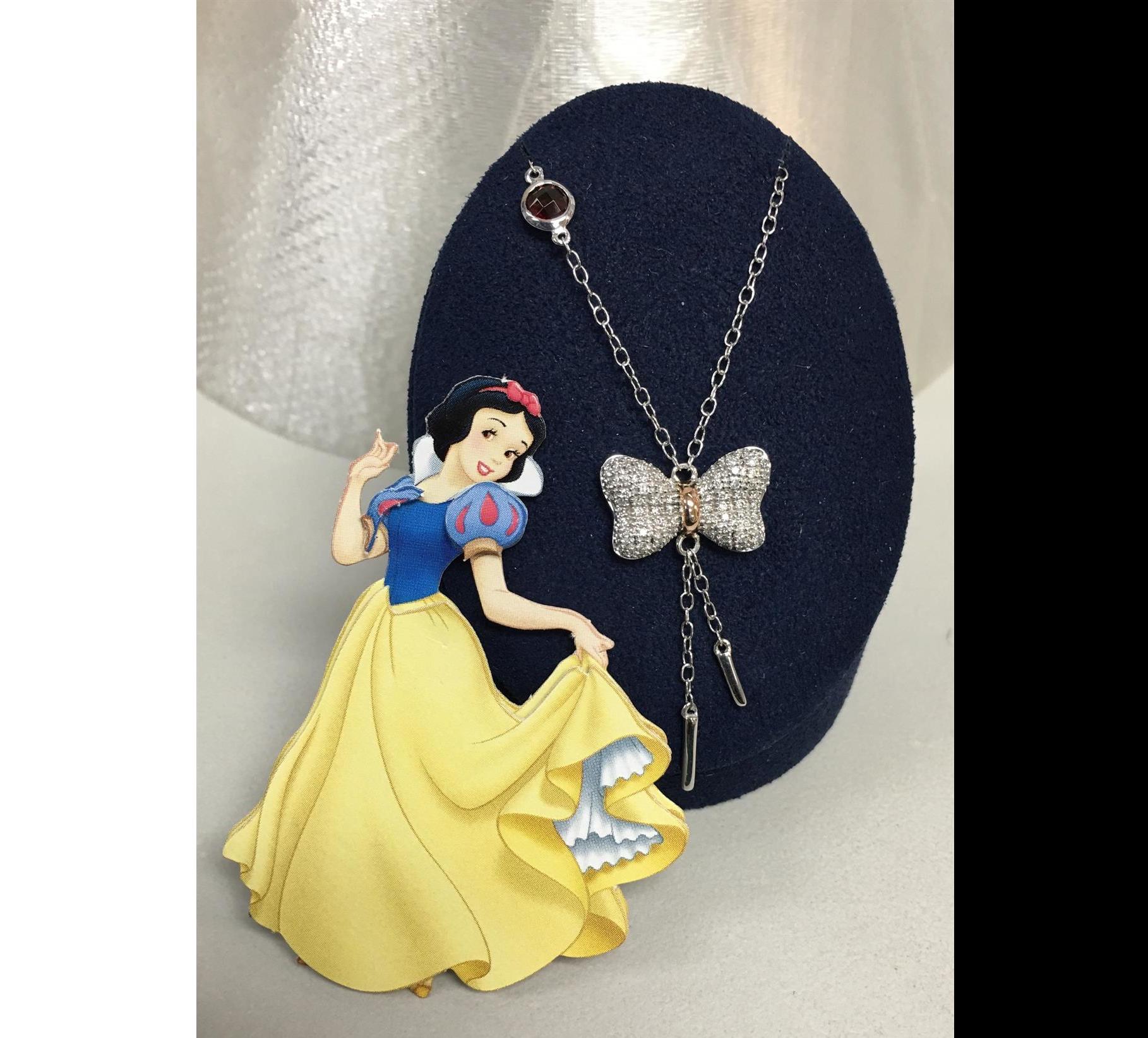 Disney's Snow White Diamond Bow Pendant