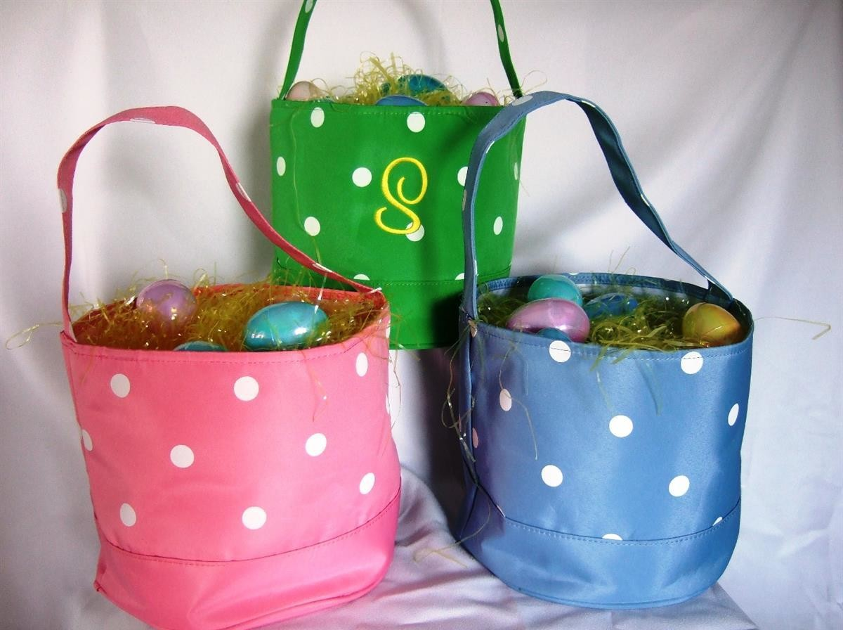 Polka dot Easter Basket