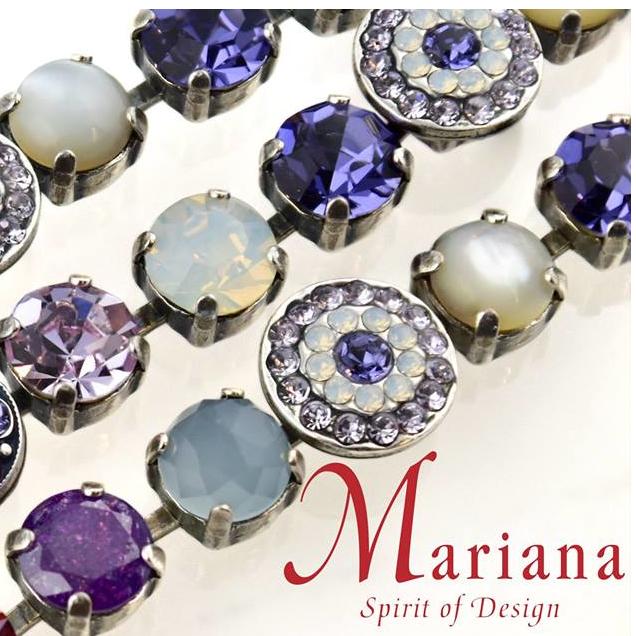 Mariana Jewelry Swarovski crystal Israel lifetime warranty colored crystal minerals jewelry bracelets earrings beautiful