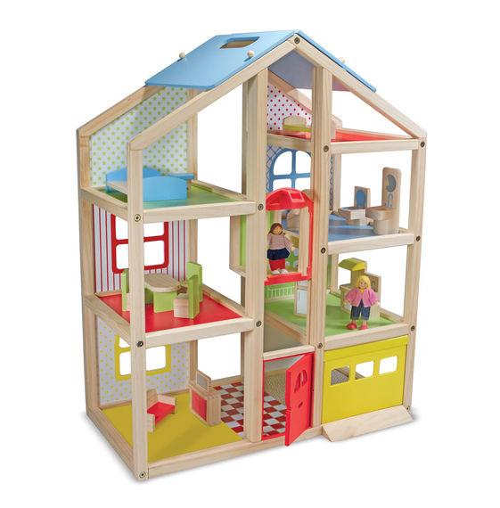Hi-Rise Wooden Dollhouse
