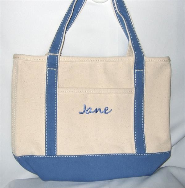 Personalized Canvas boat tote