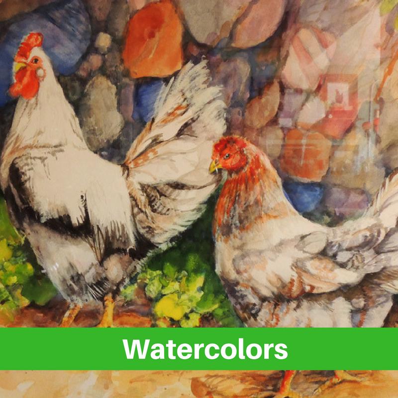 Watercolor art Stagecoach Gallery Platte, SD