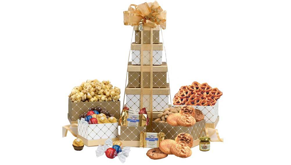Gold gift tower
