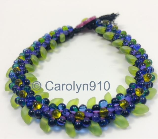 Kumihimo Petal Bracelet