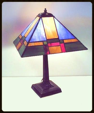 4-panel glass lampshade class example
