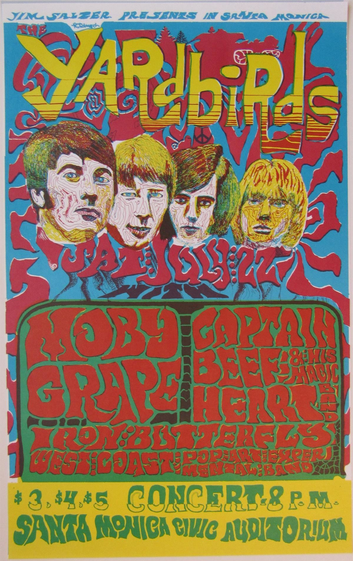 Yardbirds / Moby Grape (Yellow)