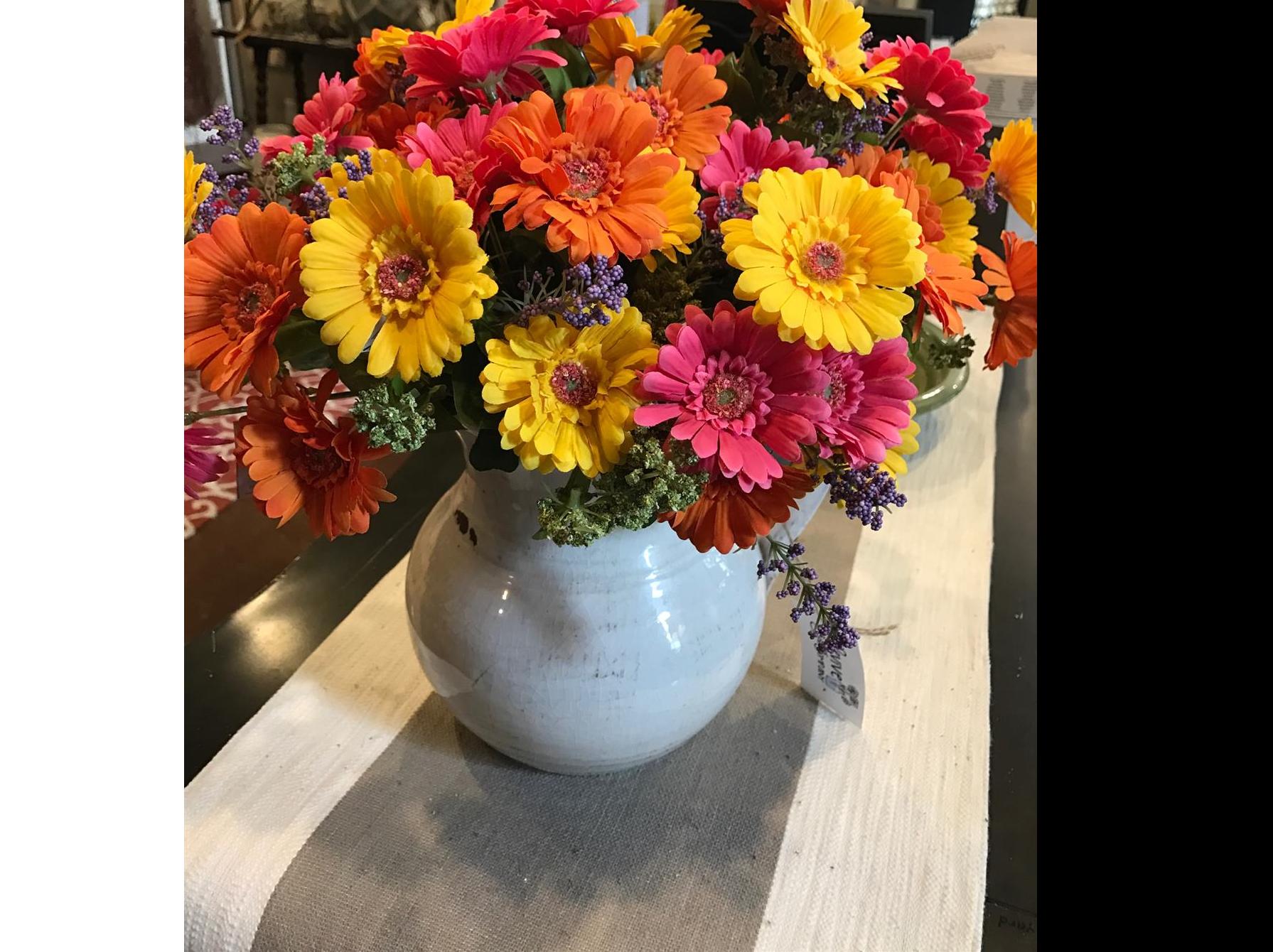 Floral, Gerber Daisy, Faux arrangement, Revive & Company
