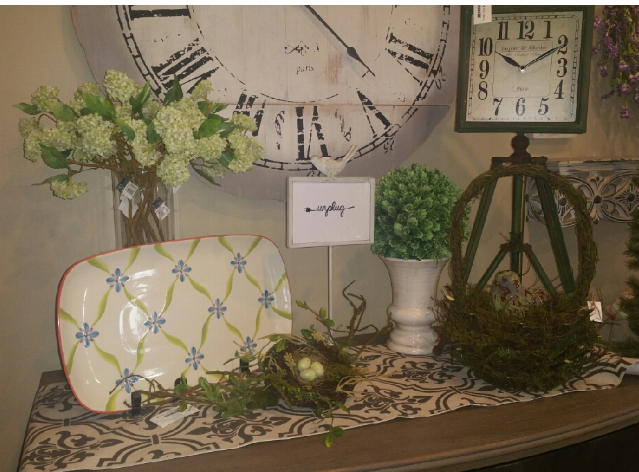 Platter, Clocks, Spring nests, Spring floral, Revive & Company