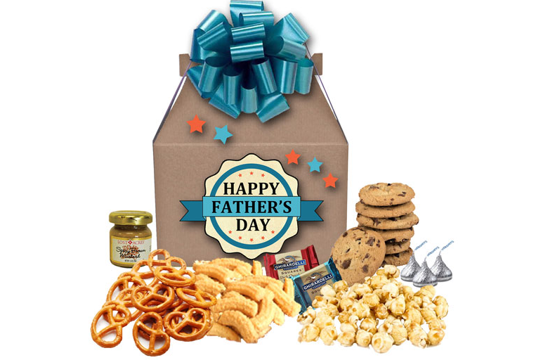 Happy Father's Day gourmet treats gift box