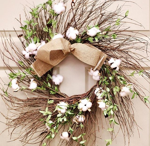 gift, gifts, home decor, wreath, cotton