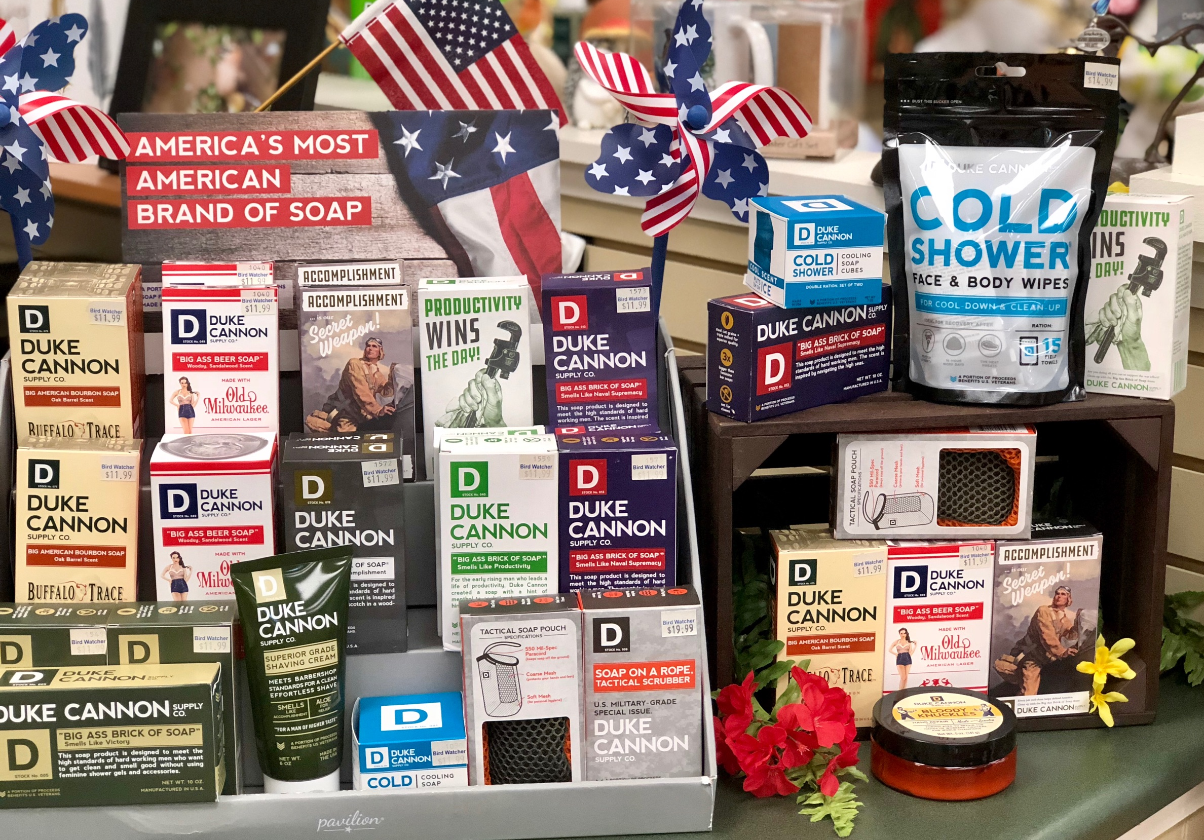 Duke Cannon, guy gift, soap, face towels, body wipes, hand balm, lip balm, dad, shave cream, veterans