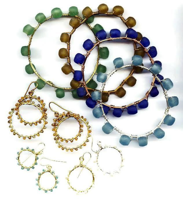 Easy Beaded Hoops and Bangles