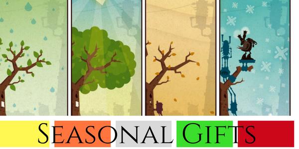 Seasonal gifts like Christmas, Easter, Halloween and more