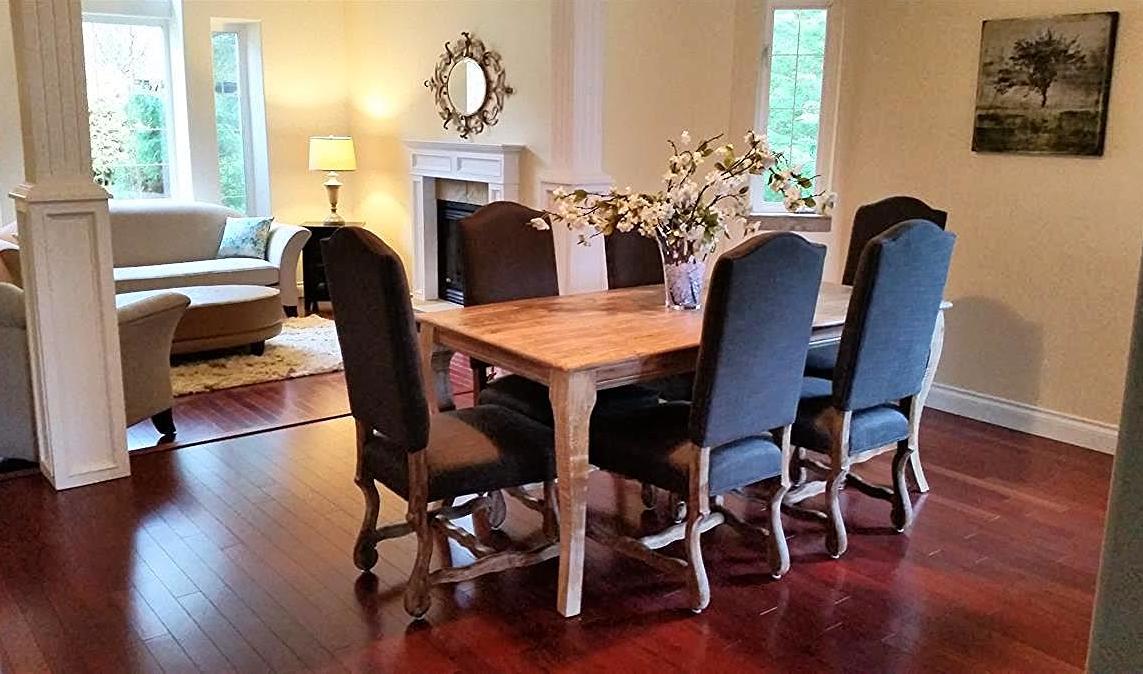 Kootenai Moon Furniture Living Room Dining Room Staging