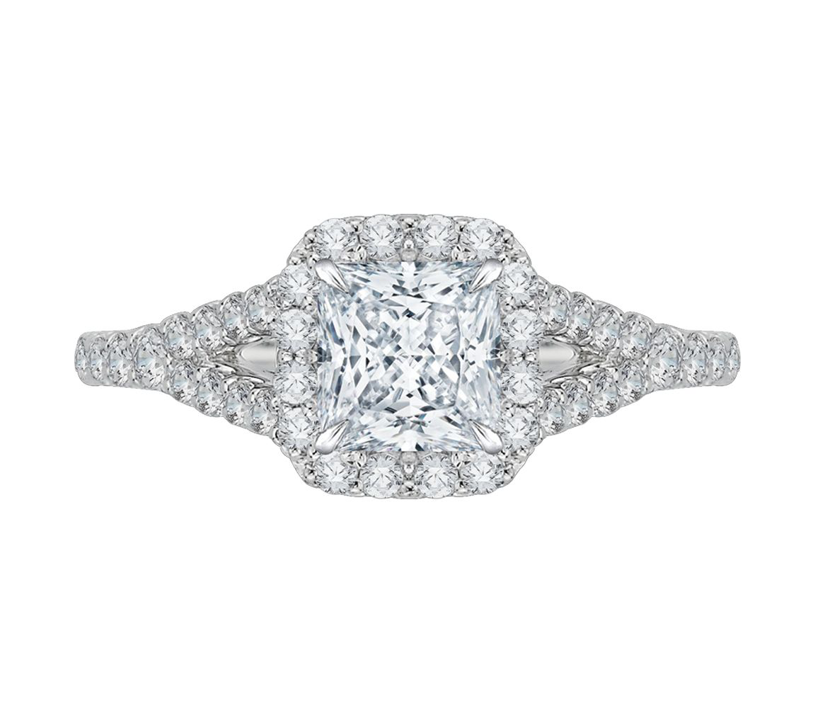 CARIZZA gold and diamonds engagement ring