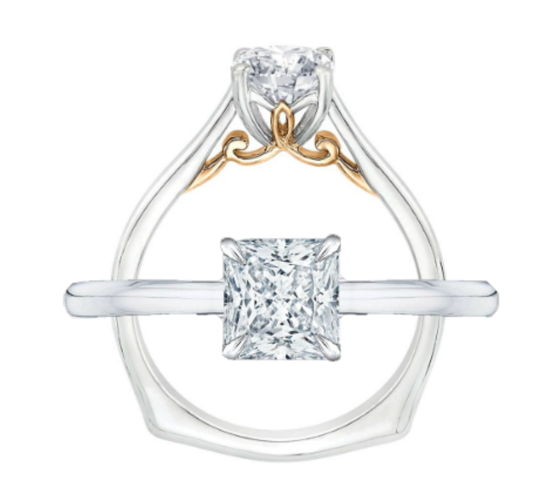 CARIZZA gold engagement ring