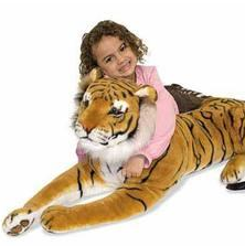 Girl and Tiger Toy