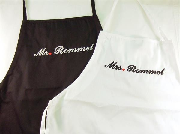 Personalized Mr. and Mrs Apron