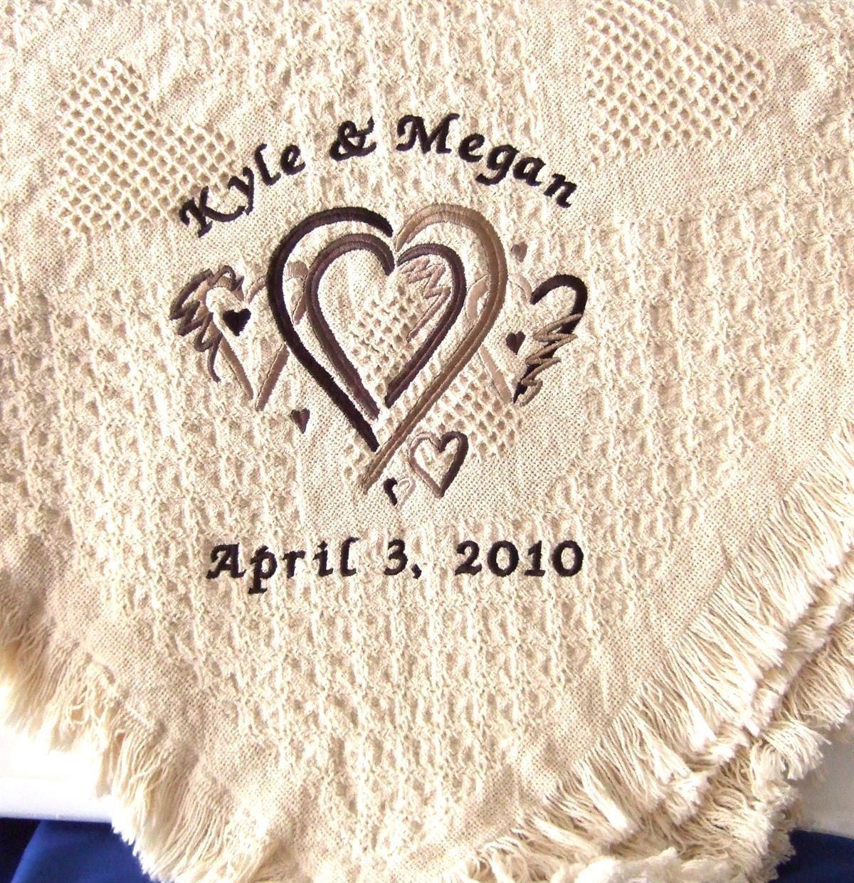 Personalized wedding blanket