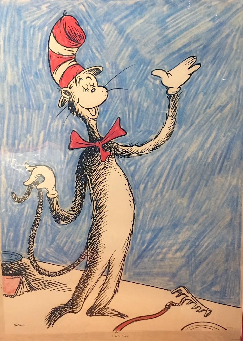Dr. Seuss art, Oh the Places You'll Go, illustrative art, secret art, unorthodox taxidermy, archive works, Dr Seuss Bronze