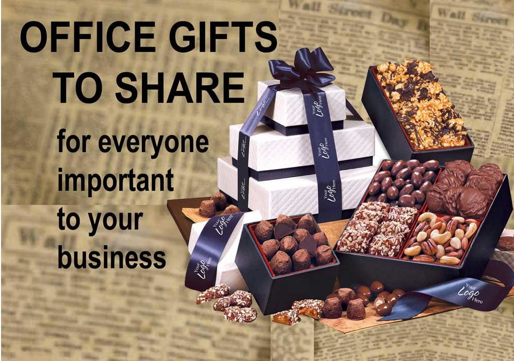 Office Gift Tower with gourmet treats