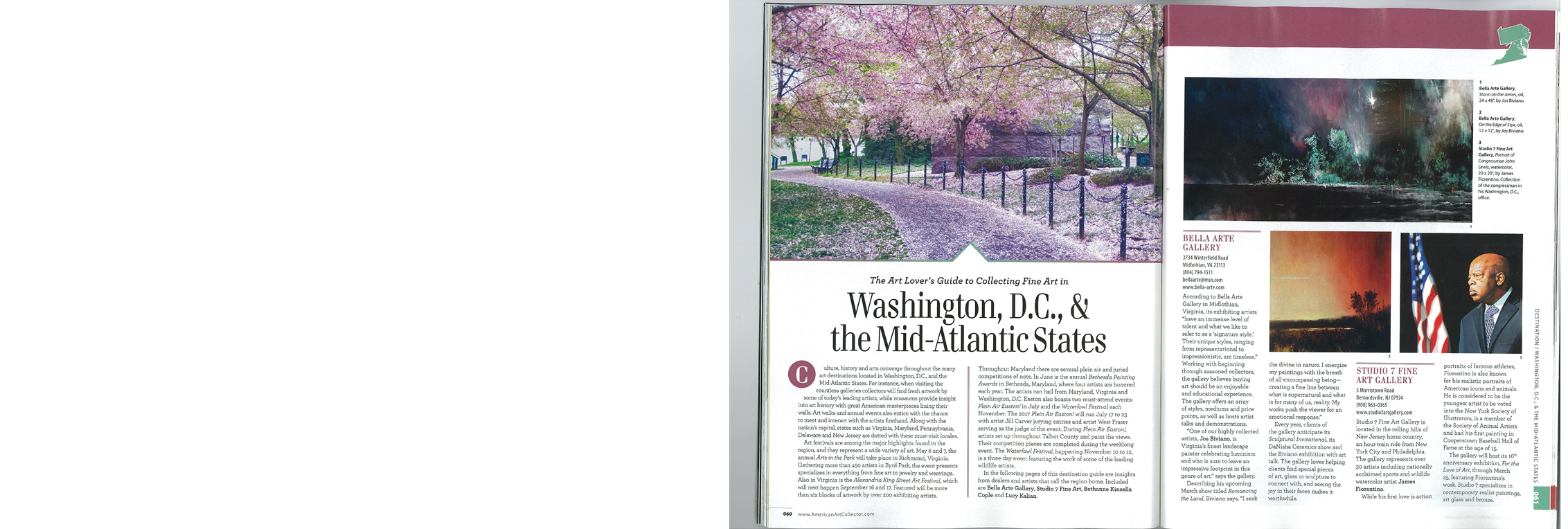 American Art Collector The Art Lover's Guide to Collecting Fine Art in Washington, DC and Mid Atlantic States