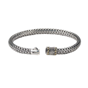 Sterling Silver Woven Bangle Bracelet