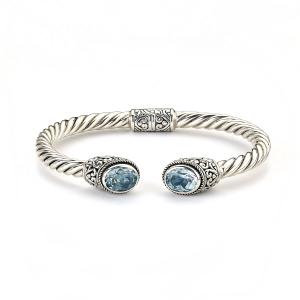Blue Topaz Cuff Bracelet