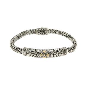 Floral Carved Woven Bracelet