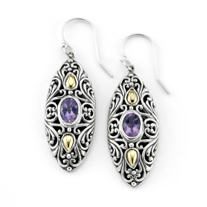 Marquise Amethyst Dangle Earrings