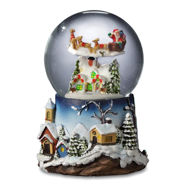 Santa Flying over  Village *