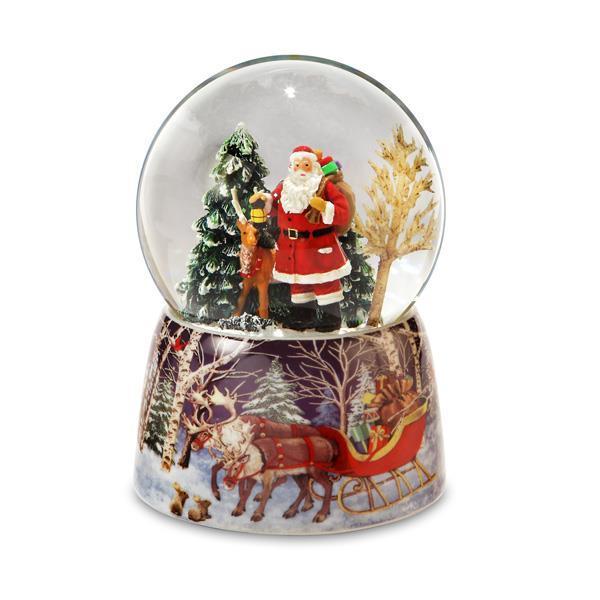 Santa and Reindeer Water Globe*