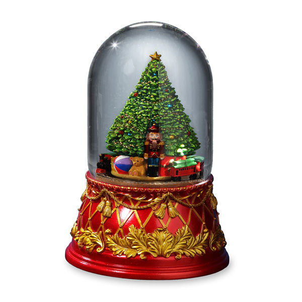Nutcracker Tree Domed Water Globe
