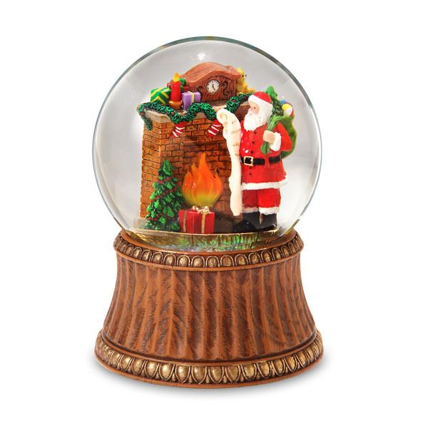 Santa by Fireplace