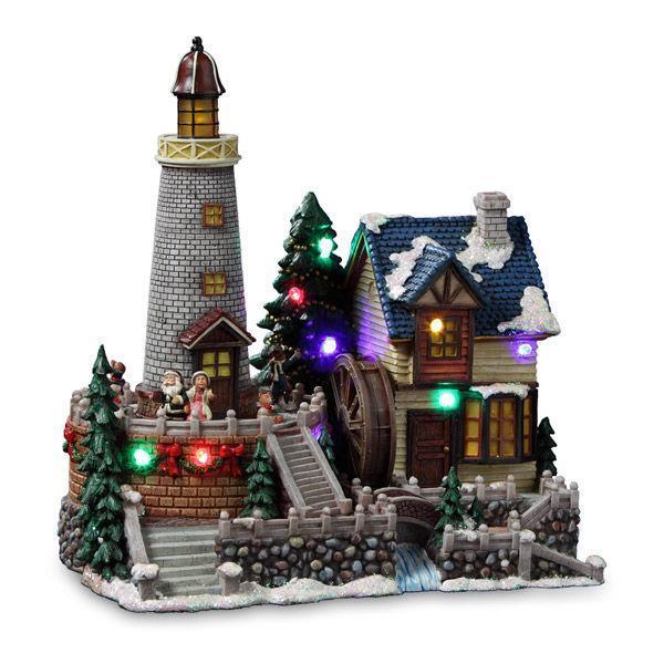 Santas Lighted Animated Village