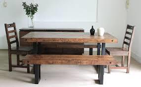 Kootenai Moon Furniture Dining Room Furniture, Irish Coast, industrial, foundry, acacia wood, dining bench, wooden chairs