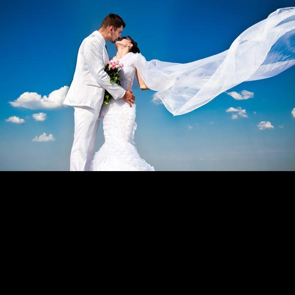 wedding bridal couple