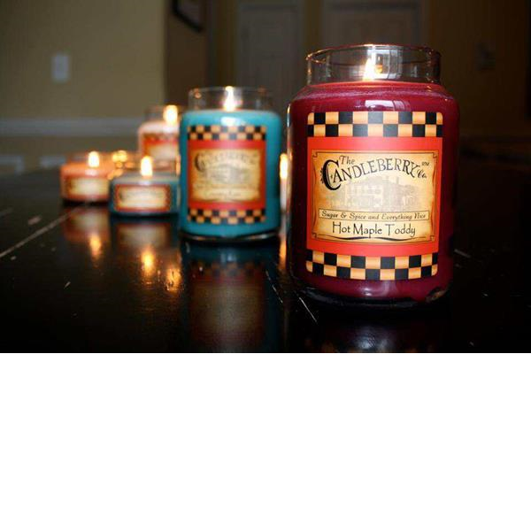 Candleberry jar candles hot maple toddy