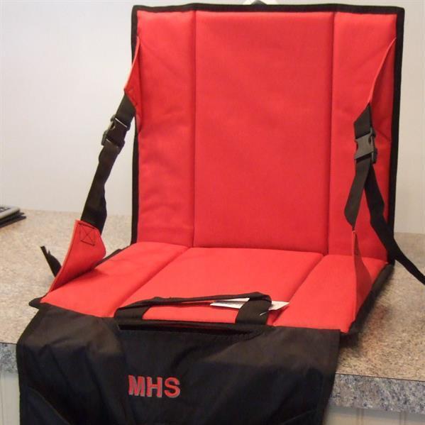 Personalized stadium seat cushion