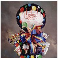 Birthday gift box with savory treats.