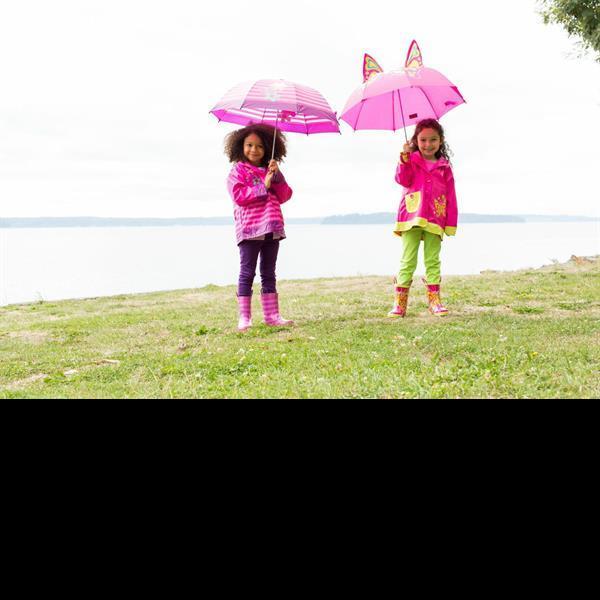Kids With Umbrellas